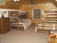 Hocking Hills cabins bunk bed room