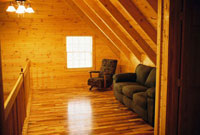 Hocking Hills cabin rental loft