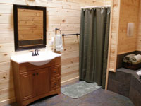 Sandstone Lodge and Cabins in Hocking Hills - Bathroom