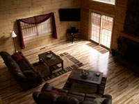 Sandstone Lodge and Cabins Rental in Hocking Hills - Family Room